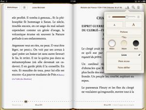 Livre ePub et modes d'affichage