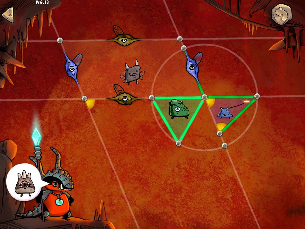 On dessine le triangle qui a les 3 côtés verts. Et on sélectionne les 3 côtés pour le faire devenir équilatéral.
