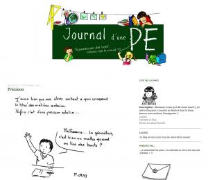 Journal d'une PE