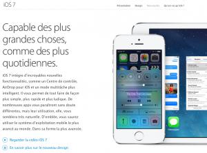 Nouveautés iOS7