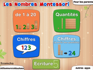 Acceil Nombres Montessori